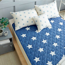 Hanil Electric Blanket Bed Pad Cotton Heating Mattress Star Blue Korea S,M,L