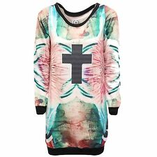 0181R maxi felpa donna OZ multicolor sweatshirt woman vestito