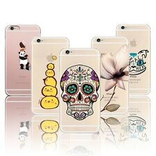 """Case For Apple iPhone 6 6s 4.7"""" Phone Cover Flowers skull Christmas cat Fruits S"""