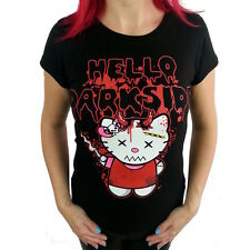 Darkside Clothing Hello Darkside Kitty Kitty Heads T-shirt,ladies fit.