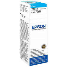 GENUINO EPSON ECOTANK T6642 ORIGINAL CIAN 70ML TINTA BOTELLA (C13T664240)