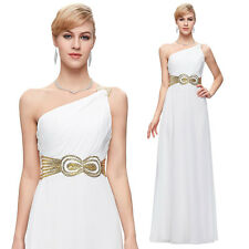 1 SHOULDER Formal Long Wedding Prom Gown Bridesmaid EVENING Cocktail Party Dress