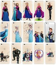 Case/Cover Apple iPhone 5 5s SE + Screen Protector / Clear Disney Frozen Gel