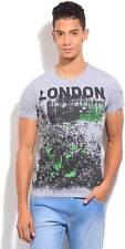Pepe Jeans Printed Mens Round Neck Grey T-Shirt (Flat 60% OFF) -9AP