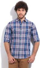 Pepe Jeans Mens Checkered Casual Multicolor Shirt(Flat 50% OFF) -936