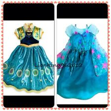 Disney Store Frozen Fever Elsa & Anna Fancy Dresses Costumes All Ages NEW *LOOK*