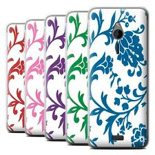 STUFF4 Phone Case/Back Cover for Nokia 230 /Floral Stamp Pattern
