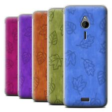 STUFF4 Phone Case/Back Cover for Nokia 230 /Textile Effect Leaf Pattern