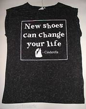 PRIMARK DISNEY CINDERELLA NEW SHOES CAN CHANGE YOUR LIFE T SHIRT TEE TOP  6 / 18