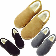 Women Faux Fur Lined Moccasins Warm Winter Suede Shoes Loafers Soft Flats Gift