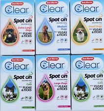 Bob Martin Flea Clear Spot On for Cats and Dogs Small to Extra Large