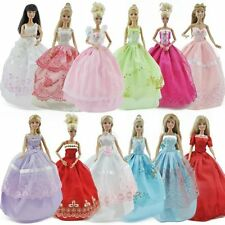 5pcs Fashion Princess Party Dresses Wedding Clothes Outfits Gown For Barbie Doll