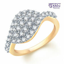 Sukkhi Artistically Crafted Gold and Rodium plated CZ Studded Ring - 124G650