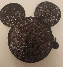 PRIMARK LADIES / GIRLS DISNEY MICKEY MOUSE SILHOUETTE GLITTER ZIP COIN PURSE NEW