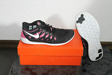 Nike Free Run 5.0 Women's Running Shoes Black Pink all sizes new
