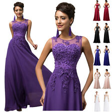 ELEGANT Vintage Lace Evening Party Dresses Bridesmaid Long Prom Ball Gowns Dress