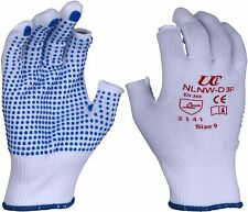2 pairs UCI NLNW-D3F - 2 Exposed Fingerless Polka Dot Grip Gloves - All sizes
