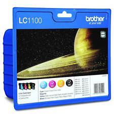 AUTENTICO Brother LC1100BK/C/M/Y cartuccia di Inchiostro MultiPack (LC1100VALBP)