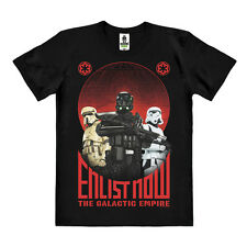 Star Wars - Rogue One - Enlist Now Easy Fit Organic T-Shirt, schwarz - LOGOSHIRT