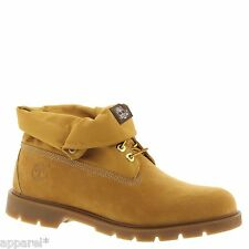 Mens New Timberland Roll Top Basic Boots Wheat Yellow Leather 6634
