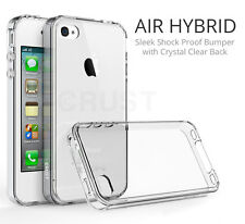 CRUST™ Clear Back Cover For Apple iPhone 4S, iPhone 4 Shock Proof Bumper Case