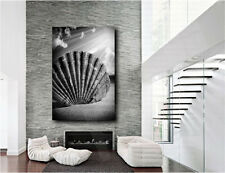 Sea Shell Sunshine Black and White Canvas Art Poster Print Home Wall Decor