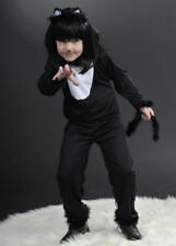 Kids Halloween Witches Black Cat Costume