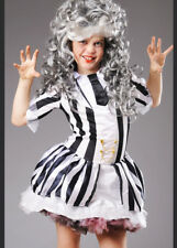 Kids Size Beetlejuice Girl Costume with Wig
