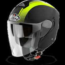 CASCO HELMET URBAN JET AIROH 2017 HUNTER SIMPLE YELLOW MATT GIALLO OPACO MOTO