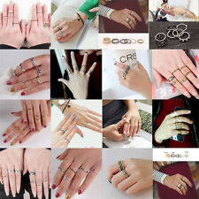 Simple style Urban Rings Stack Above Knuckle Ring Band Midi Finger Ring set