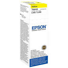 GENUINO EPSON ECOTANK T6644 ORIGINAL AMARILLO 70ML TINTA BOTELLA (C13T664440)