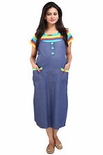 MomToBe Denim Striped Maternity Dress