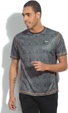 Fila Printed Mens Round Neck Grey T-Shirt (Flat 50% OFF) - 9CW
