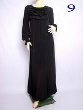 Jilbab/ Abaya/ Kaftan/ Dress-Uk Sizes 8,10 -Lengths 50,51,52,53,54,55,56""