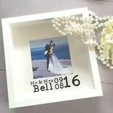 Personalised Wedding Day Photo Frame Gift - Mr&Mrs/Mrs&Mrs/Mr&Mr - Wedding Gift