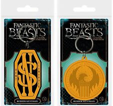 Fantastic Beasts Rubber Keychain Keyring New Newt Scamander MACUSA Official UK