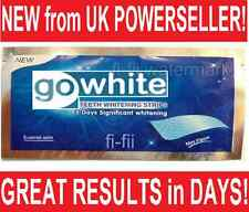 28 x (FULL COURSE) GENUINE GO WHITE PROFESSIONAL TEETH WHITENING STRIPS 14 POUCH