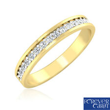 0.21Ct Certified Natural & Real Diamond Band Ring 14kt Hallmarked Gold Band Ring