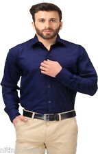 New Exciting 100% Cotton Dark  Blue Colour Formal Shirts For Men -