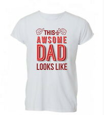 This Is Awesome Dad Fathers Day Gift Funny Ladies Mens Tshirt T-shirt Womens
