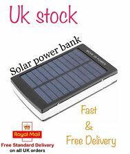 30000mAh Mobile Phone Solar Panel Charger Battery Portable Power Bank Dual USB