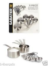 Sabatier Premium Quality Stainless Steel Measuring Cups and Spoons 11 Piece Set