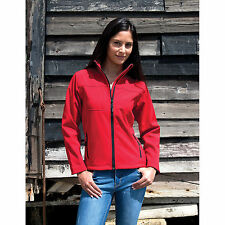 Result Ladies Classic Soft Shell Jacket Womens Polyester Waterproof Stylish Coat