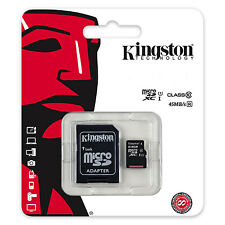 KINGSTON MICRO SD MEMORY CARD FOR MOBILE PHONES WITH FULL SIZE SD ADAPTOR