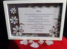 Personalised HQ Box Frame Print Mothers Day Mum Mam Mother,Present,Gift,MD18