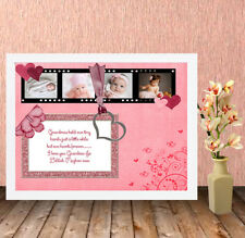 Personalised HQ Box Frame Print Mothers Day Nan Nanny Grandma,Present,Gift,MD22