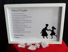 Personalised HQ Box Frame Print Mothers Day Mum Mam Mother,Present,Gift,MD30