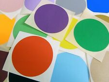 """65mm (2.6"""") Round Stickers Coloured Circles Circular Sticky Labels - 32 Colours"""