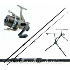Kit Pesca Carp Fishing Canna da Pesca + Mulinello + Rod Pod + Filo PC