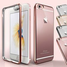 Electroplate Bling Bumper Shockproof Soft Clear Solicone TPU Case For iPhone